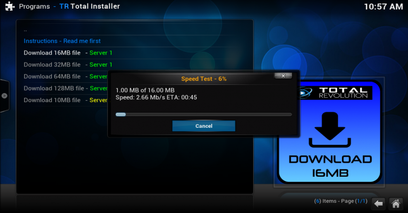 How To Test Your Download Speed on Your Kodi Device