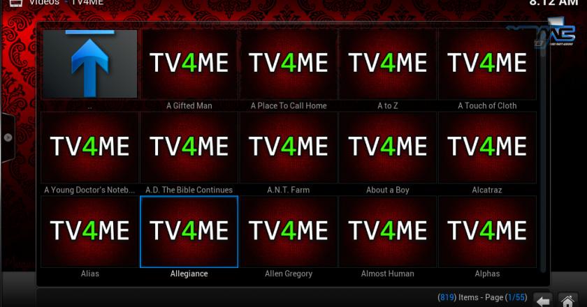 Install TV4ME on Kodi