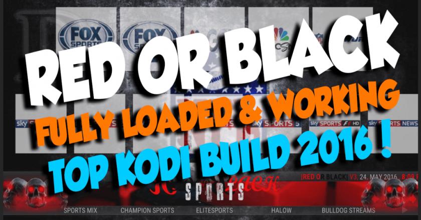 Install Red Or Black KODI Build
