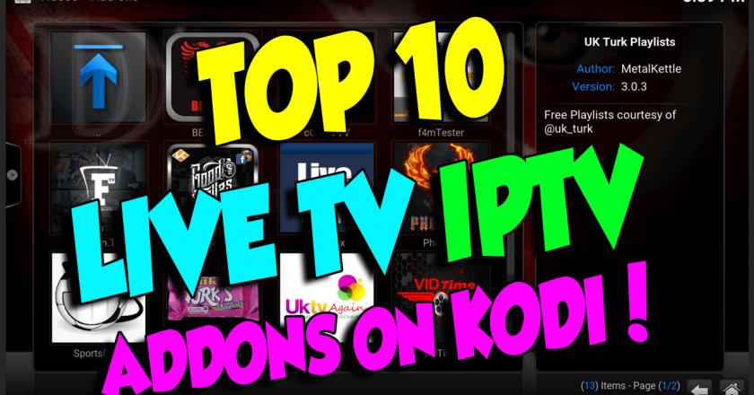 Top 10 IPTV Live Kodi Addons