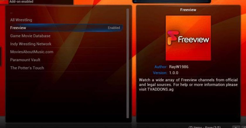 Install FreeView addon Kodi